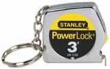 "Stanley 39-130  3' x 1/4"" PowerLock Keychain Tape Measure"