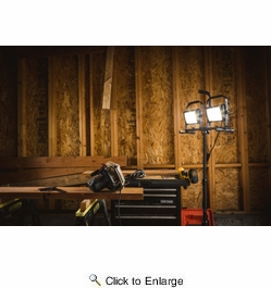 Stonepoint D5000DT-QR-U  10,000 Total Lumen LED Worklight with Double Tripod and USB Port