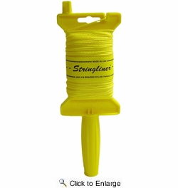 Stringliner 11450  Original Stringliner Holder with 250' Braided Yellow #18 Construction Line