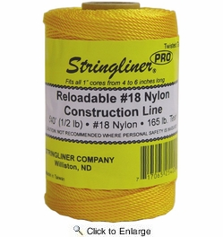 Stringliner 35400  540' Twisted Nylon Construction Line Gold 1/2-lb. Replacement Roll