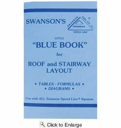 "Swanson P0110  Little ""Blue Book"" for Roof and Stairway Layout"