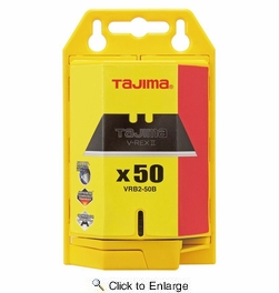 Tajima  VRB2-50B  V-Rex II Utility Knife Blades with Safety Dispenser - 50 Blades