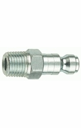 """Tru-Flate 12-125  1/4"""" Tru-Flate Design (""""T"""" Style) Air Line Quick Disconnect Coupler Plug with 1/4"""" NPT Male Thread"""