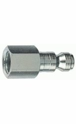"Tru-Flate 12-135  1/4"" Tru-Flate Design (""T"" Style) Air Line Quick Disconnect Coupler Plug with 1/4"" NPT Female Thread"