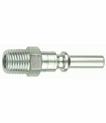 "Tru-Flate 12-425  1/4"" Lincoln Design (""L"" Style) Air Line Quick Disconnect Coupler Plug with 1/4"" NPT Male Thread"
