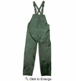 Viking Wear  2910PG  Open Road 150D Green Rain Bibs with Supenders - XLarge