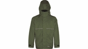 Viking Wear  3305J Men's Green Journeyman 420D Nylon Rain Jacket with Mesh Lining  - Large