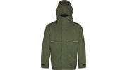 Viking Wear  3305J Men's Green Journeyman 420D Nylon Rain Jacket with Mesh Lining  - Medium