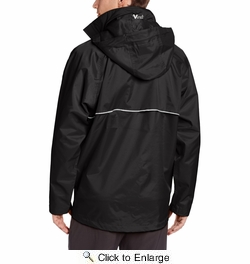 Viking Wear 3307J  Men's Black Journeyman 420D Nylon Rain Jacket with Hood - Large