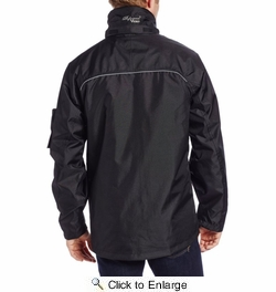 Viking Wear  3910JB  Men's Black Professional Thor 300D Trilobal Rain Jacket - Large