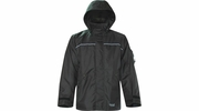 Viking Wear  3910JB  Men's Black Professional Thor 300D Trilobal Rain Jacket - Medium