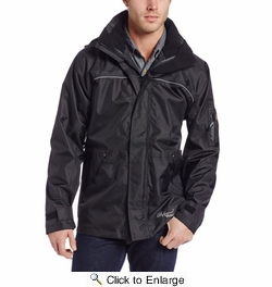 Viking Wear  3910JB  Men's Black Professional Thor 300D Trilobal Rain Jacket - Xlarge