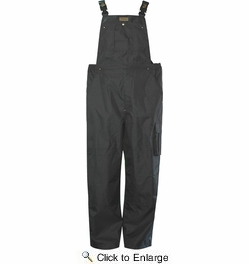 Viking Wear  3910PB  Men's Black Professional Thor 300D  Trilobal Rain Bib Pants - Medium