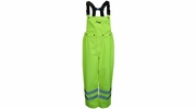 Viking Wear D6329PG  Professional Journeyman Hi-Vis 300D Trilobal Safety Rain Pants with Detachable Bib - Large