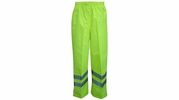Viking Wear D6329WPG  Professional Journeyman Hi-Vis 300D Trilobal Safety Rain Pants - Large
