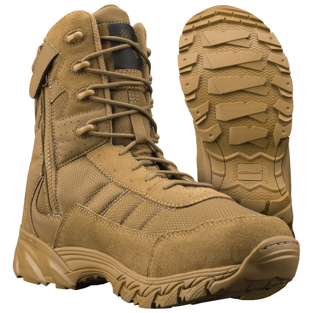 3873570c00c Altama Vengeance 8 Inch Side Zip Coyote Military Boot 305303
