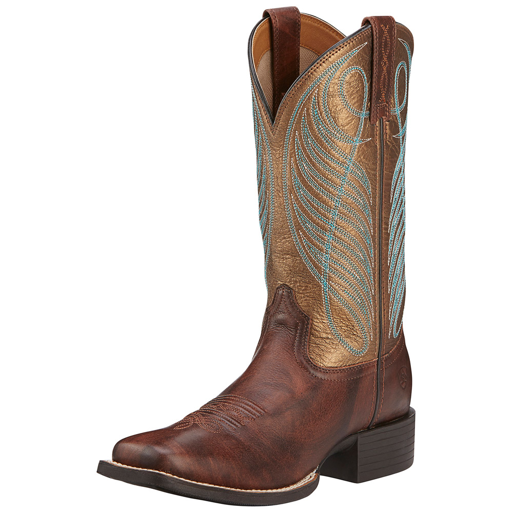 9c429028198 Ariat Women's Round Up 11 Inch Wide Square Toe Western Boot 10016317