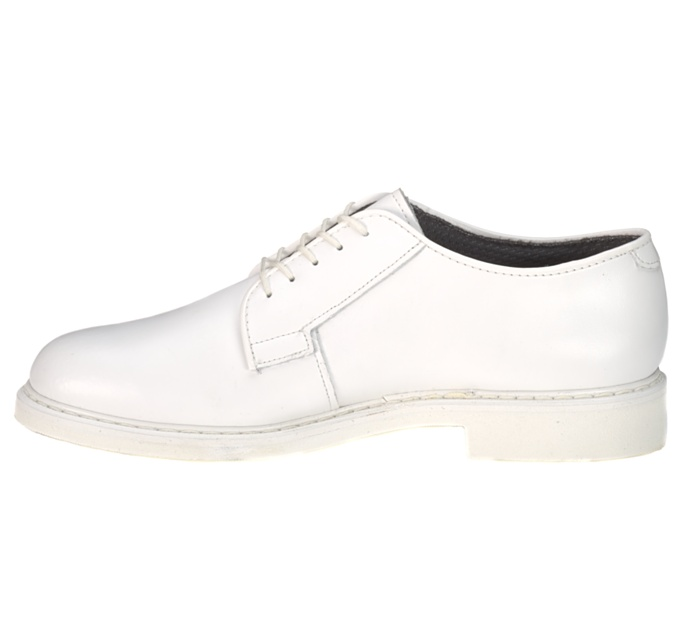 Bates oxford white dress shoes