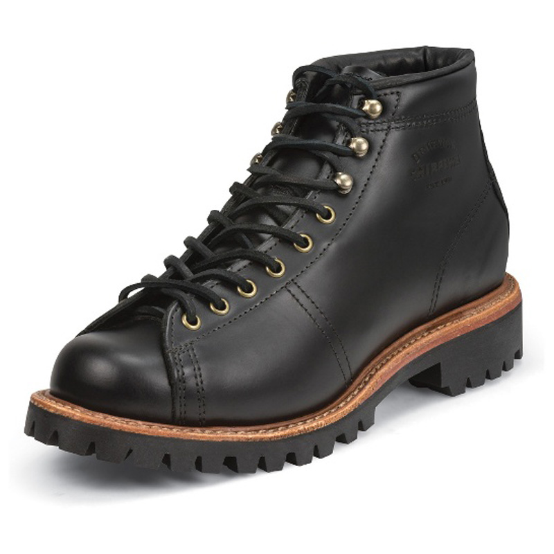 Chippewa Black Whirlwind 5 Inch Plain Toe Lacetotoe Field