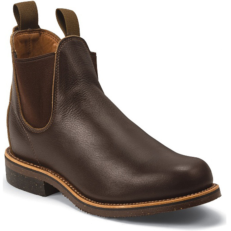 Chocolate Vermont Cowhide 5 Inch Plain Toe Pull Up Boot 1901G16