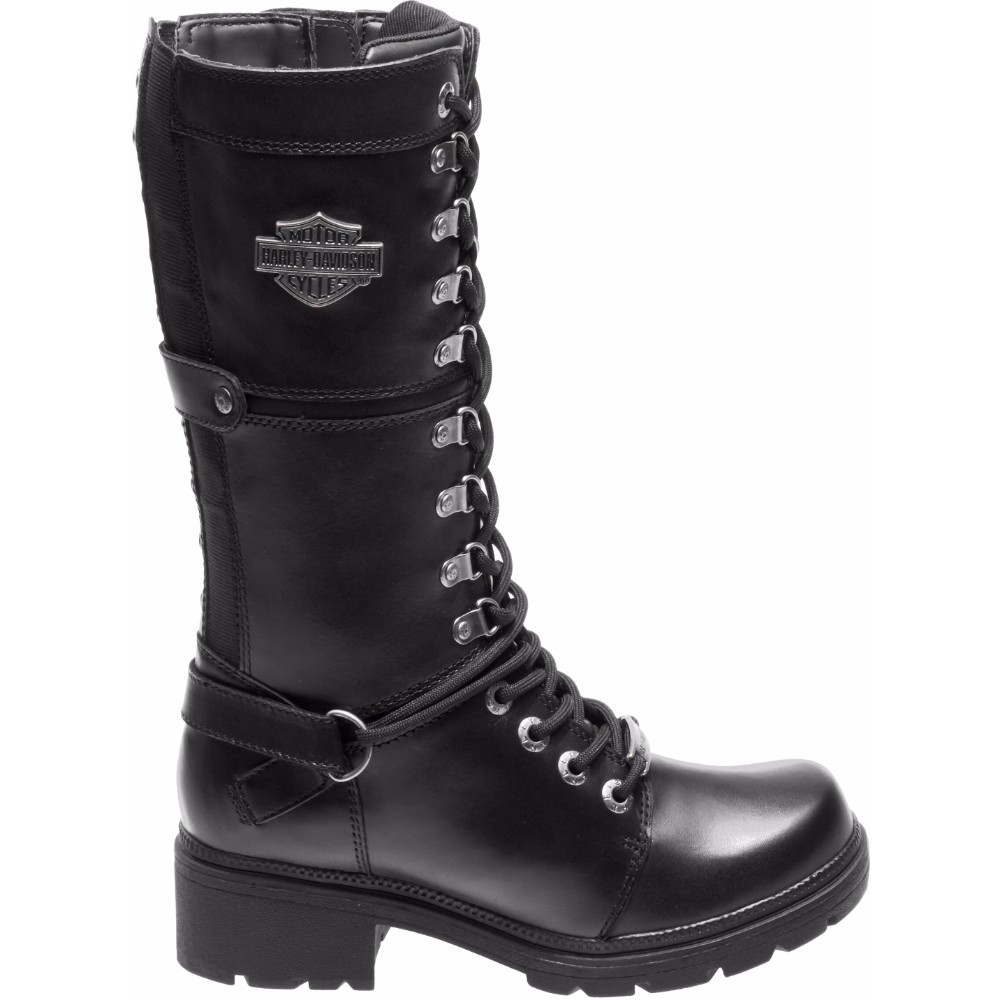 Harley Davidson Womens Harland 11 Inch Side Zip Motorcycle Boot D83987