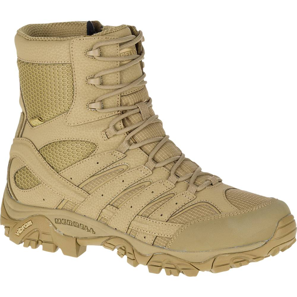 1f88c69766d Merrell MOAB 2 8 Inch Side Zip Waterproof Coyote Tactical Boot J15841