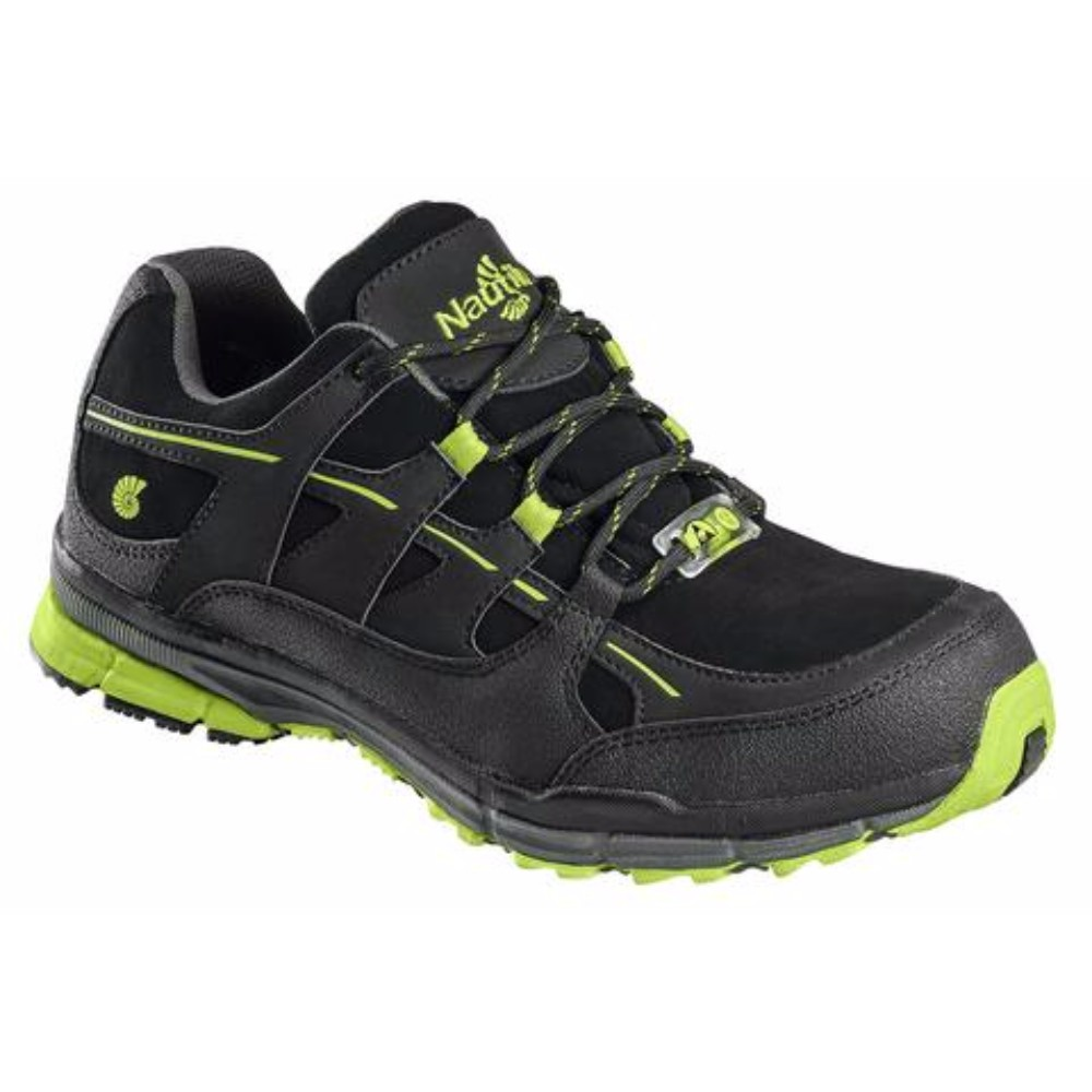 Safety Shoe Black Lime