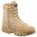 Original S.W.A.T. Classic 9 Inch Tan Side Zip Military Boot 115202