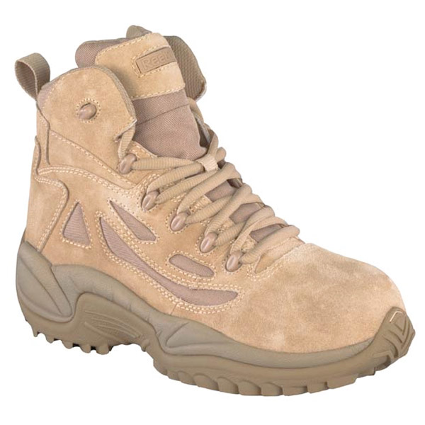 7b8b4b0ae0d Reebok Rapid Response 6 Inch Composite Toe Side Zip Military Boot RB8694