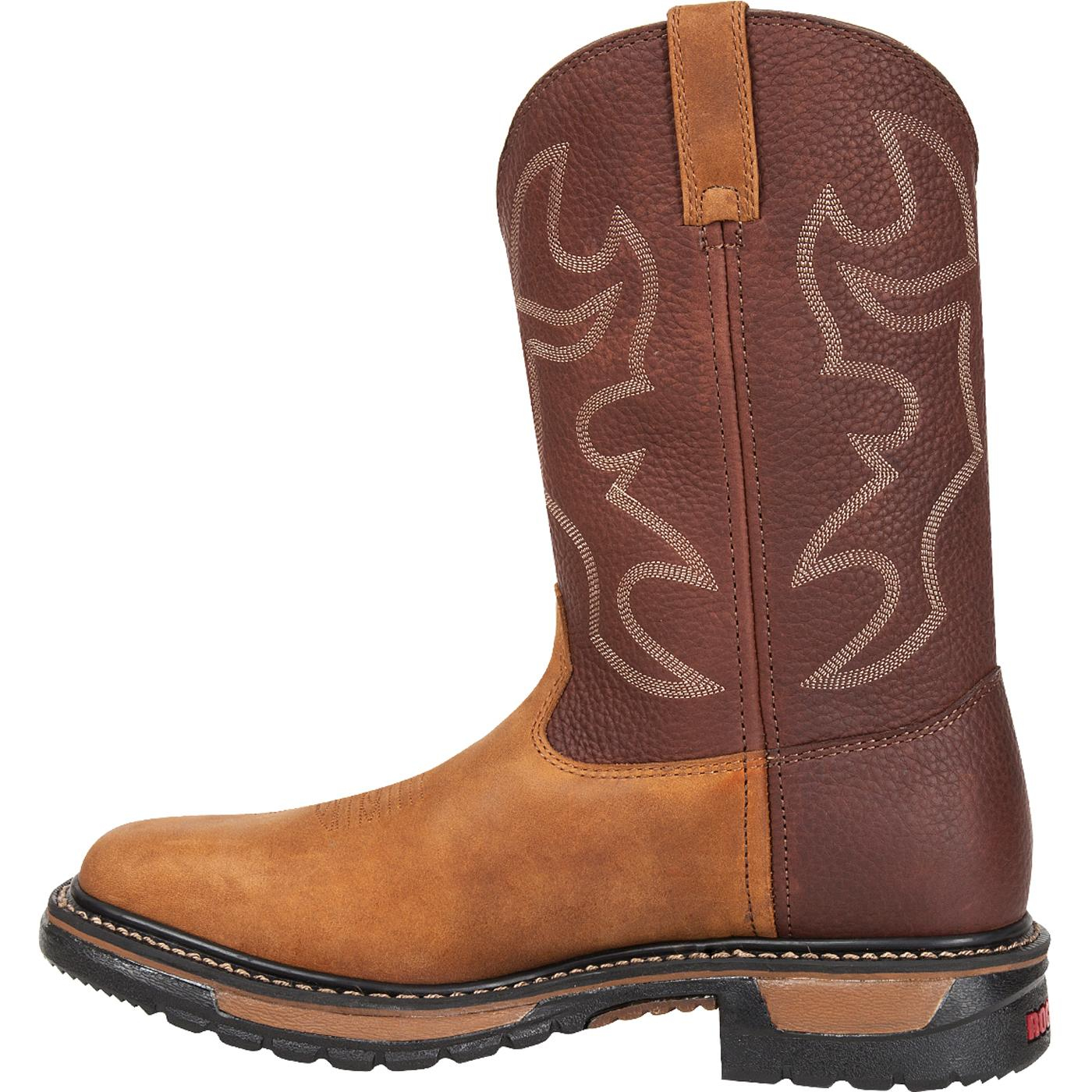 Western Original Ride 10 Inch Steel Toe Square Toe Cowboy Boot RKYW040