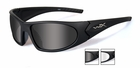 Wiley X Rommer Black Frame with Smoke Grey Lens, and Clear Lens 1004