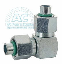 A/C Fitting #8 x #8 adapter 90°