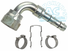 E-Z CLIP FITTING 90° O.S. FEMALE O-RING w/QUICK DISCONNECT OS-8
