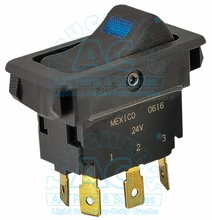 ILLUMINATED ROCKER SWITCH 24 volt OEM# 71R-0854