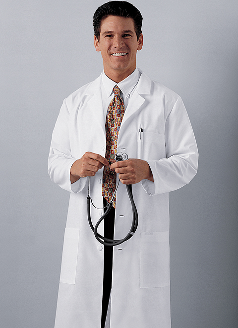 "Cherokee Mens / Unisex 40"" long Lab Coat 1346"