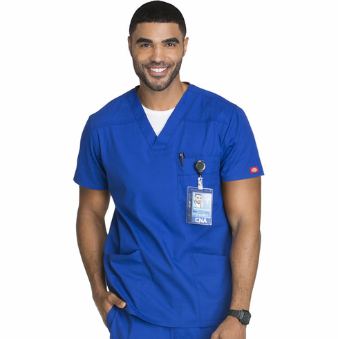 Dickies EDS Signature Men's 3 pocket Scrub Top 81906