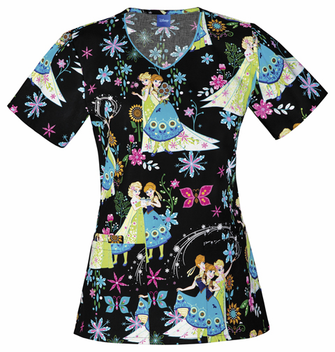 Disney Frozen Fever V neck scrub top Tooniforms 6802c FZEV