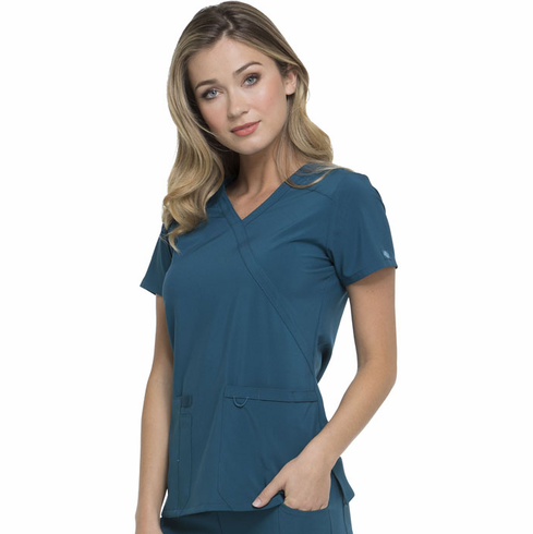 DK625 Dickies Essentials Mock Wrap Top