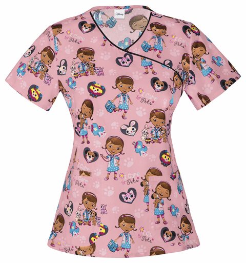 Doc McStuffins mock wrap top I Care For Pets 6784 DCIC
