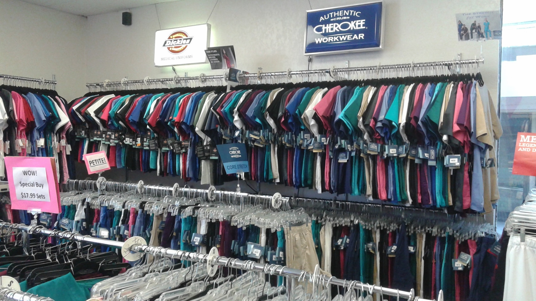 Scrub Mart Chula Vista Dickies Gen Flex and Cherokee Core Stretch