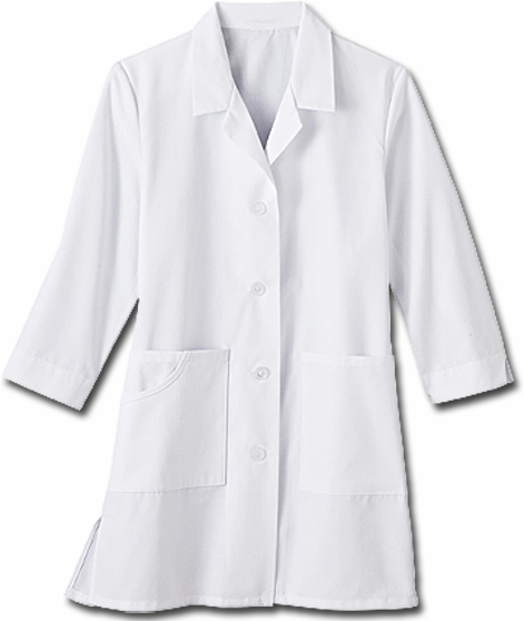 White Swan Meta 3/4 Sleeve Female Lab Coat 15012