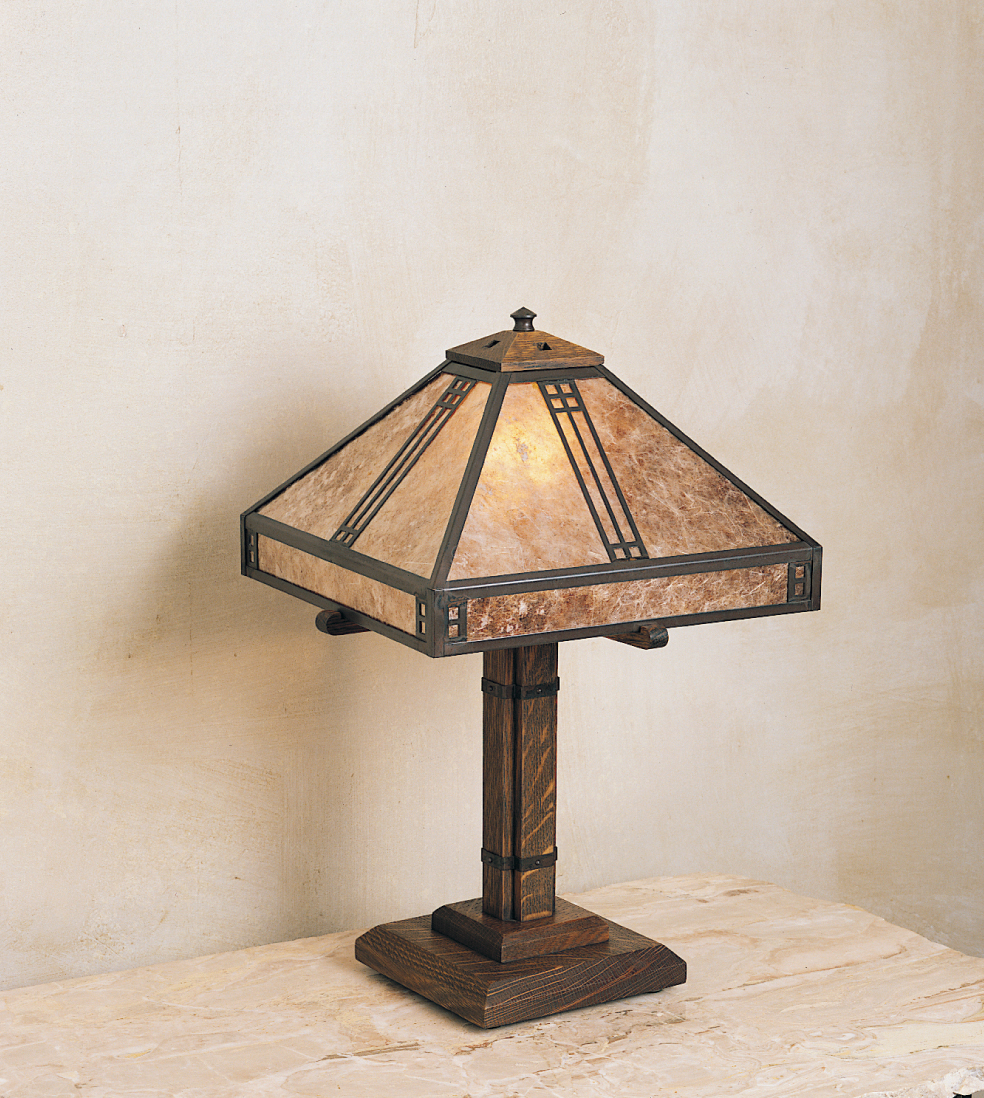 Arroyo craftsman ptl 12 hand crafted 12 inch prairie for 12 inch table lamp