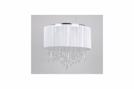12 Light Dual Mount Hanging or Flush Mount Fixture shown in White Silk String by Avenue Lighting
