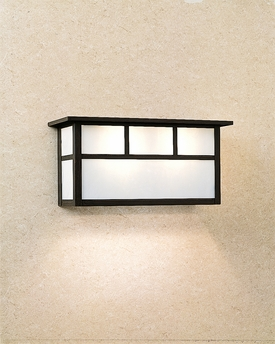 Vanity Lights Overlay Mirror : Arroyo Craftsman (HS-14S) Hand-Crafted 14 Inch Huntington Short Body Sconce