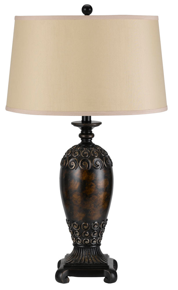 150w 3 way biloxi resin table lamp shown in argent by cal for 150 w table lamp
