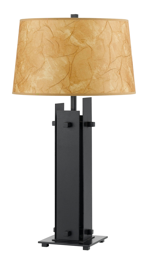 150w 3 way pahoa iron table lamp shown in iron by cal for 150 w table lamp