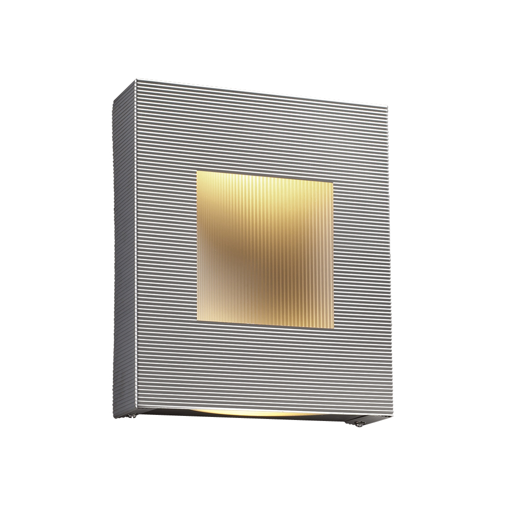 2 Light Sconce Malta Collection shown in Aluminum by PLC Lighting - 6412