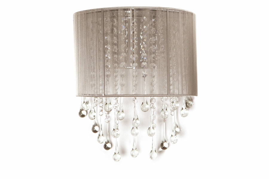 crystal wall sconce lighting amazon candle holders light silk string accents shown black avenue sconces