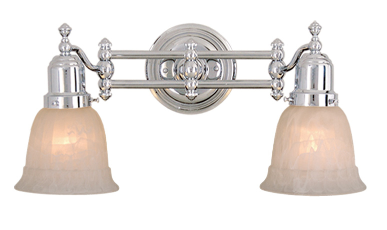 Yasmin Wall Light 2 Arm : Vaxcel Lighitng (VL28962) Swing Arm 2 Light Wall Light