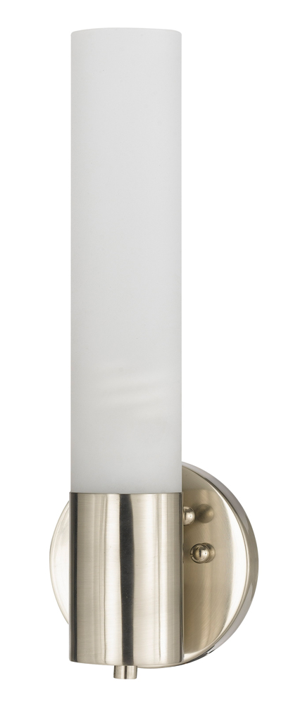 Vanity Light Bulb Sockets : 26W Gu24 Socket Bath Vanity Light shown in Brushed Steel by Cal Lighting - LA-198